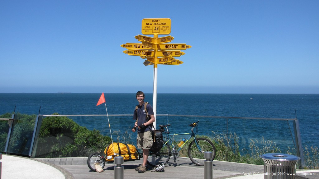 Sterling Point: Nearly the Southern end of NZ